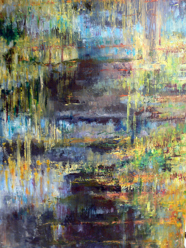 Galerie riviere abstrait abstract river dreams artwindow - Peinture abstraite a l huile ...