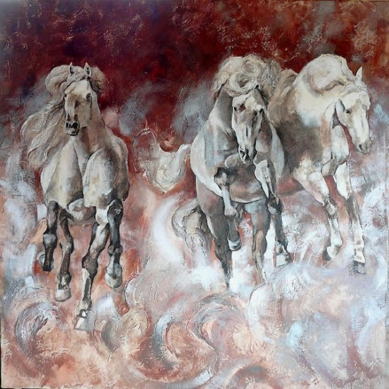 artwindow - Chevaux galopand vers l'azur...