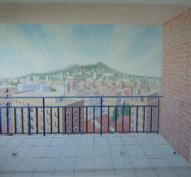 Galerie la loggia mur peint artwindow for Poncer un mur peint