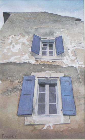 artwindow - aquarelle sur papier Arches.collection particulière